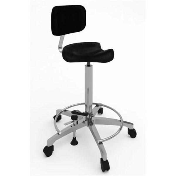Sgabello per operatore con sedile a sella - Art. 108315