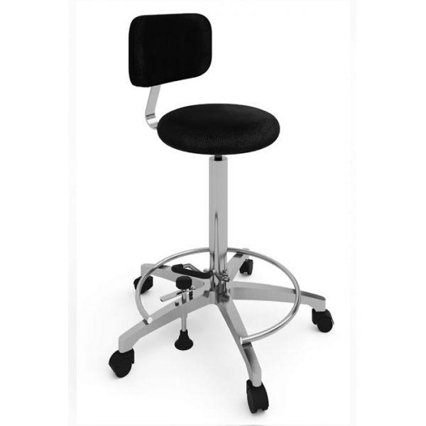 Sgabello per operatore con sedile rotondo - Art. 108316