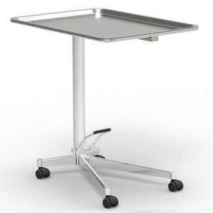 Tavolo porta ferri modello MAYO, asportabile, imbutito e senza angoli aperti