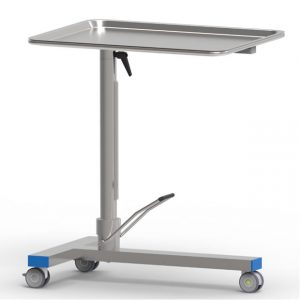 Tavolo Mayo con pompa a doppio movimento e piano girevole porta ferri