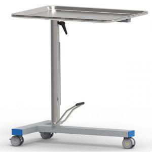 Tavolo di Mayo porta ferri, con pompa a movimento singolo e piano girevole