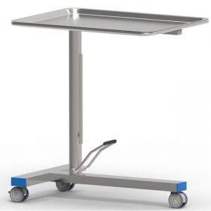 Tavolo porta ferri modello MAYO, con pompa a movimento singolo