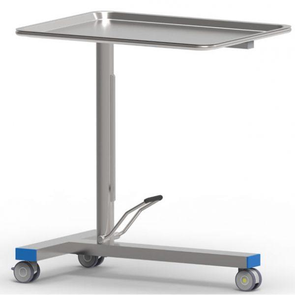 Tavolo porta ferri MAYO, con pompa a movimento singolo
