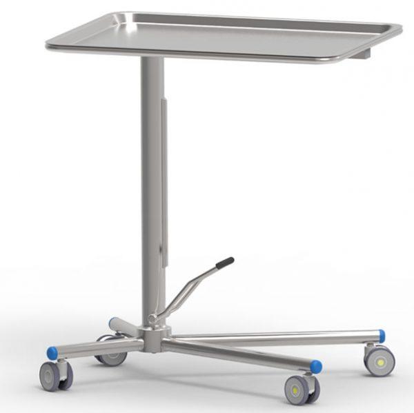 Tavolo di Mayo porta ferri con pompa a movimento singolo e piano fisso