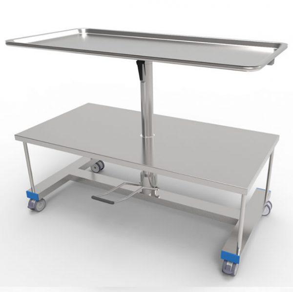 Tavolo porta strumenti ad altezza variabile