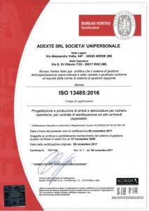 ADEXTE Certificazione ISO 13485:2016